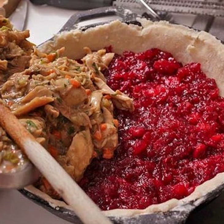 Turkey and Cranberry Pie