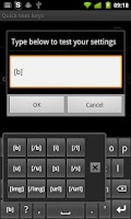Screenshot of BBCodes for AnySoftKeyboard