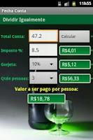 Screenshot of Close The Bill Tip Calculator