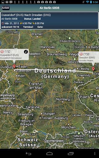 Dresden Flughafen+Flight Track
