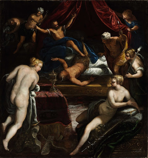 Hercules Expelling the Faun from Omphale's Bed