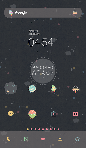 awesome space dodol theme