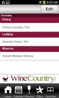 Screenshot of Napa and Sonoma WineCountry
