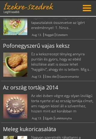 Ízekre-Szedrek mobil receptek