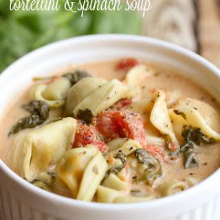 Crock Pot Tortellini Spinach Soup.
