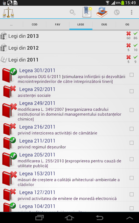 Legislativ- screenshot