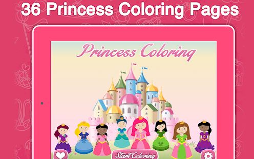 Princess Frozen Coloring Book Screenshot Thumbnail