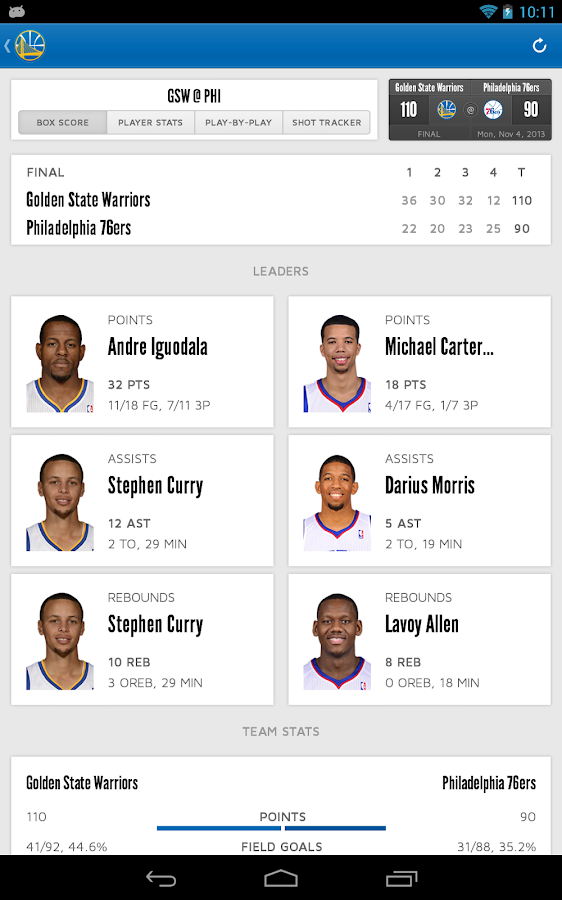 Golden State Warriors- screenshot