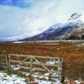 Gateway to Torridon by John Ash - Landscapes Mountains & Hills ( scotland, mountain, snow, torridon )