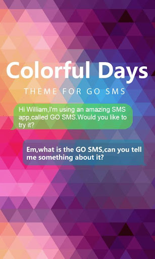 GO SMS PRO COLORFULDAYS THEME