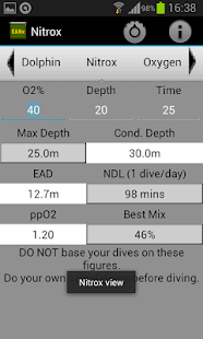 Nitrox calculator- screenshot thumbnail