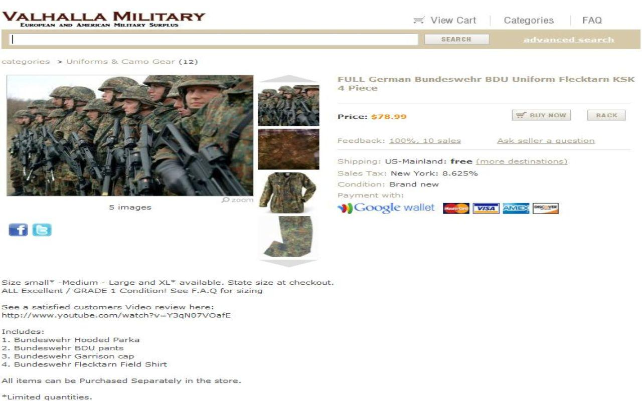 Valhalla Military Surplus- screenshot