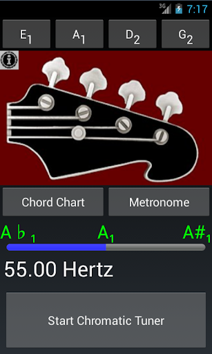 Pro Bass Guitar Tuner N Chords