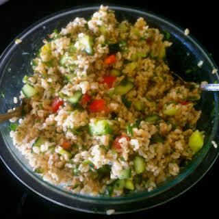 Tabouleh Brown rice salad.
