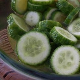 Chinese Pickled Cucumbers