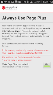 Page Plus Global Dialer- screenshot thumbnail