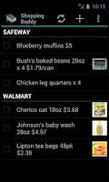 Screenshot of Shopping Buddy (Shared List)