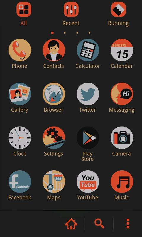 Pop GO Launcher Getjar Theme - screenshot