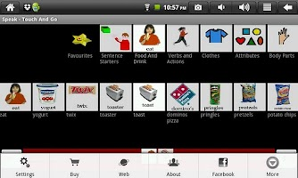 Screenshot of Touch and Go - Speak
