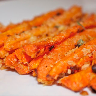 "Baked Carrot ""Fries""."