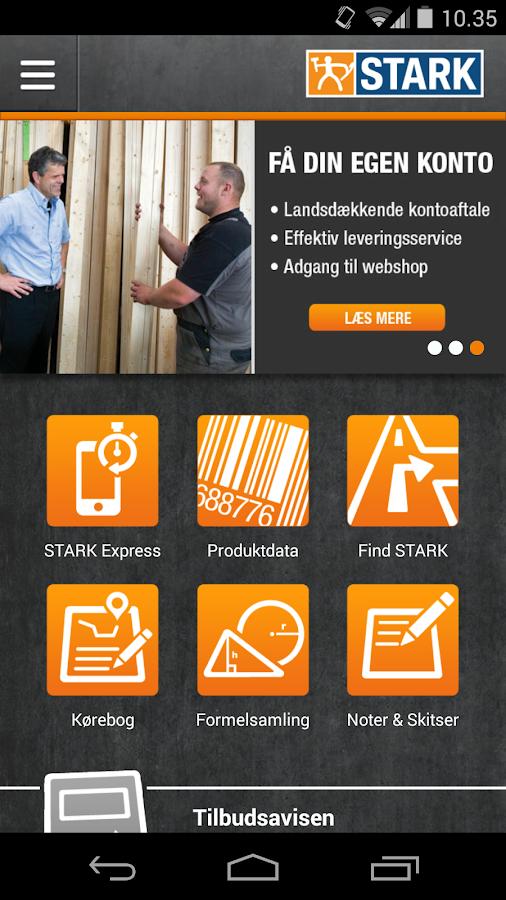 STARK Håndværker-app - screenshot