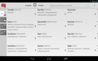 Screenshot of Free Dict Polish English