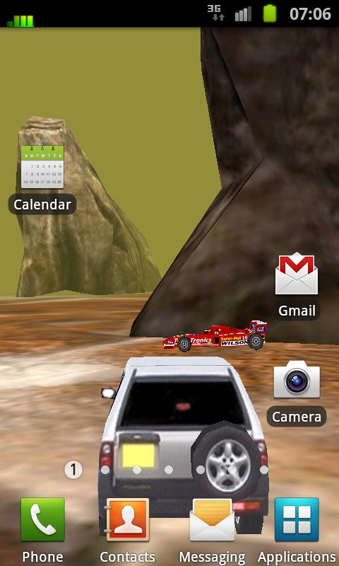 3D Car Racing Rocky Landscape - screenshot