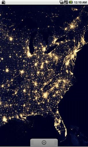 USA Earth At Night Wallpaper