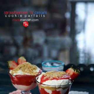 Strawberries 'n Cream Cookie Parfaits