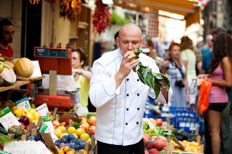 Go shopping with the chef and pick up a tip or two (and maybe some fresh produce) during your SeaDream cruise.