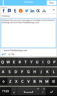 Polarbear: Twitter, Facebook - screenshot thumbnail
