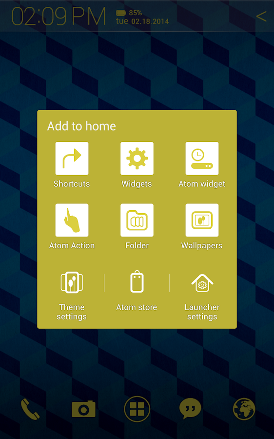 Cube Pattern Atom theme - screenshot