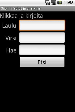 Siionin laulut ja Virsikirja - screenshot