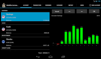 Screenshot of Mobile Account Book HD