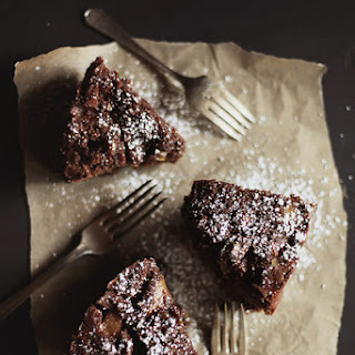 Pear & Almond Chocolate Cake with Cider Glaze.