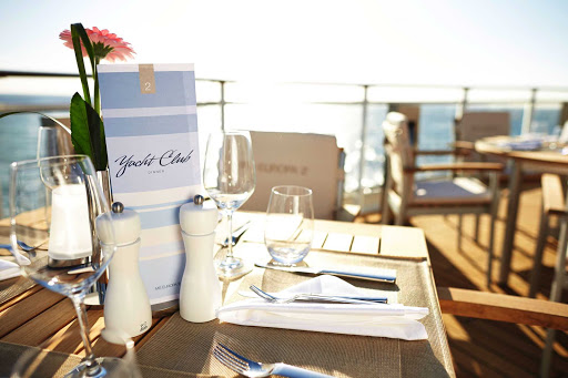 Europa-2-Yacht-Club-Restaurant - Europa 2 guests will enjoy fresh air, sea views and delicious buffet dishes at the Yacht Club Restaurant.