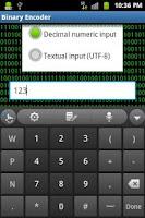 Screenshot of Binary Encoder