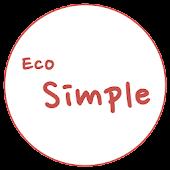 카카오톡 테마 - Eco Simple Red