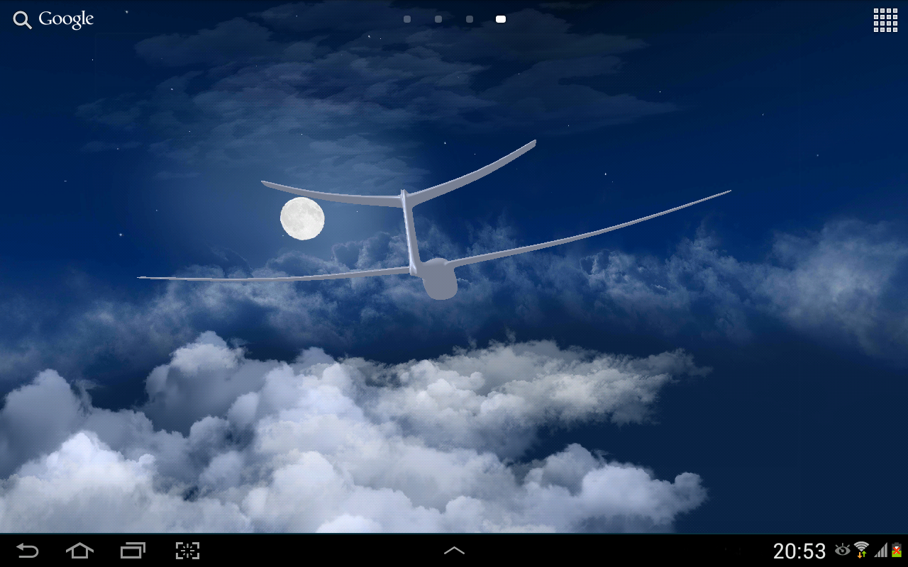 flying clouds live wallpaper