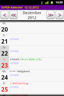 SUPER-Kalender - screenshot thumbnail