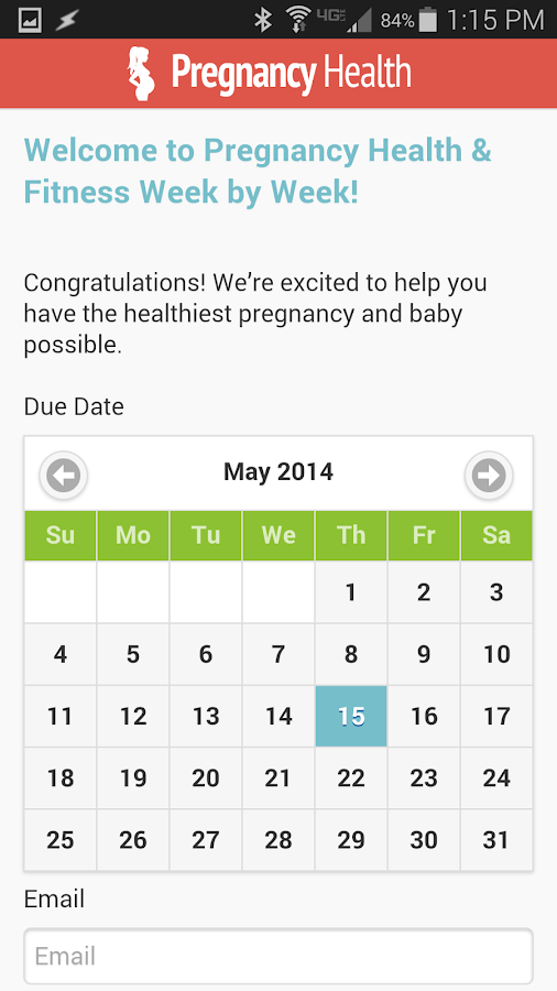 Pregnancy Health & Fitness- screenshot
