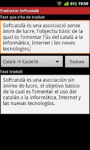 Traductor de Softcatalà - screenshot thumbnail