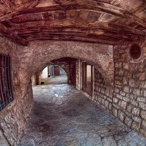 passage by Branislav Rupar - City,  Street & Park  Street Scenes ( herzegovina, passage, the old town, trebinje, stone, tunnel )