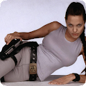 Lara Croft Angelina Wallpapers logo