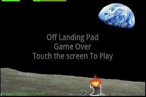Screenshot of Touch and Tilt Moon Lander