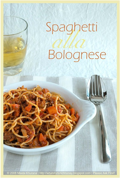 What S For Lunch Honey Cooking School Spaghetti Alla Bolognese