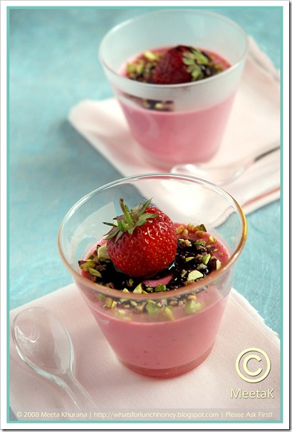 Strawberry Panna Cotta (02) by MeetaK