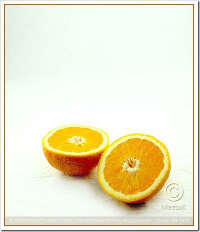 Orange on white (01) by MeetaK