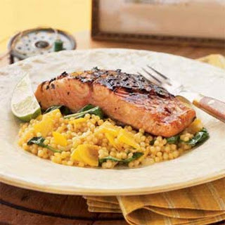 Ponzu Grilled Salmon with Golden Beet Couscous