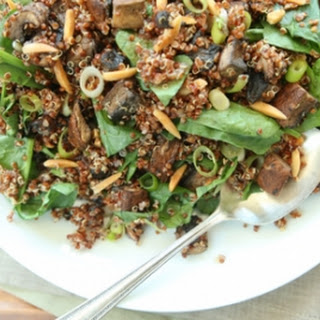 Quinoa with Balsamic Roasted Mushrooms